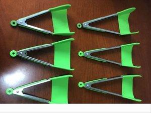 Clever Tongs cucina Spatola Pinze antiaderente resistente al calore in lavastoviglie dell'assistente della cucina Telaio Cucina Pinze Strumenti 2 pack Verde Rosso 777