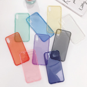 iphone için ücretsiz nakliye lüks şeffaf renkli telefon kılıfı xsmax x xs xr, iphone için tasarımcı durumda 6 7 8plus 6S