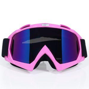 Moto Accessoires Snowboard Ski Hommes Outdoor Gafas Casco Motocross Lunettes Lunettes coupe-vent Couleur Goggle Pour Casque