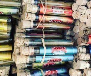 New DANKWOODS Empty Glass Tube Wood Cork Tips Cartridges Dry Herb Herbal RAW Pre-roll Flavors Stickers Packwoods Moonrock e cigarettes Vapor