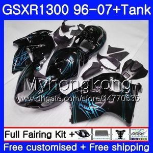 Hayabusa For SUZUKI GSXR1300 Glossy Black 96 97 98 99 00 01 07 Kit 333HM.170 GSXR 1300 GSX-R1300 1996 1997 1998 1999 2000 2001 2007 Fairing