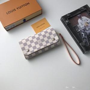 M58080 designers de mulheres de couro carteiras das mulheres wristlet bolsas de embreagem saco zipper Cash Card Coin Pouch