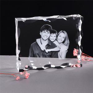 Foto Personalizado Cristal Photo Frame Personalizar Laser gravado Photo Album Square Foto presente de casamento para convidados Souvenir