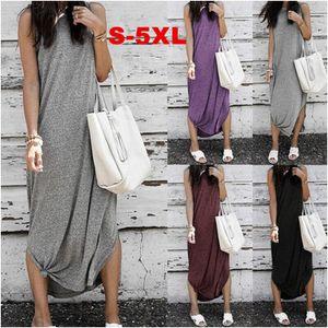 Womens Designer Dresses New Sleeveless Dress Ladys Solid Color Casual Long Skirt Women Plus Size Dresses Fashion Brand Dress