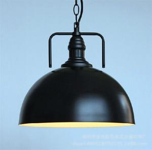 Preto Birdcage do vintage pingente Luzes Ferro minimalista Retro Luz Loft lâmpada metal gaiola industrial Lighting Pendant luzes E27