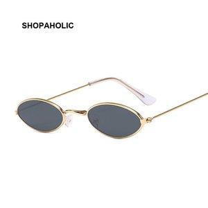 레트로 작은 라운드 선글라스 여성 브랜드 디자이너 검은 색 태양 안경의 경우 여성 합금 품질 선글라스 여성 마력 드 솔