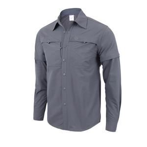 2018 erkek Cabrio Gömlek Açık Hafif Çabuk Kuruyan Yürüyüş Kamp Gömlek Uzun Kollu Gömlek Nefes Çabuk kuruyan Ceket