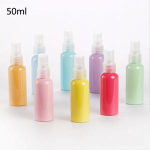 Le parfum durable de cosmétiques de cosmétiques de bouteille de jet de couleurs de 50ml Macaroon met en bouteille les récipients écologiques d'emballage de Resuable usine directe 0 65zh BB