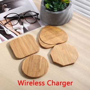 Legno di bambù Caricabatterie Wireless Charging Pad legno Qi Fast Charge Dock con USB Phone cavo di ricarica per iPhone Tablet Samsung Universal