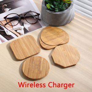 Bois de Bambou en bois sans fil Chargeur Charging Pad Qi charge rapide Dock avec câble USB chargeur de téléphone Tablet pour iPhone Samsung Universal