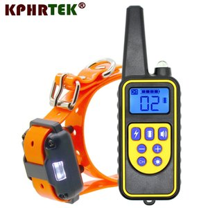 2018 New Version 800 meters Remote Dog Training Collar Rechargeable and waterproof KPHRTEK KP-DT01 Shock Vibration 28815180421