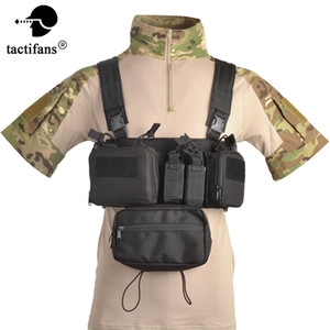 Tmc Airsoft Tactical Vest hunting Chest Rig Sack Pouch Holster Molle System Waist Bag Cs Match Wargame