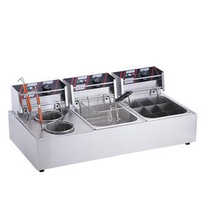 жарочная печь электрическая жареная плита коммерческая кулинарная машина 3-цилиндровая пряная сковорода жарочная машина курица сковорода варочная плита снэк-машина