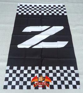 Z Racing bandera de 3 pies x 5 pies Poliéster Z bandera del vuelo 150 * 90cm de encargo de la bandera del casco del deporte