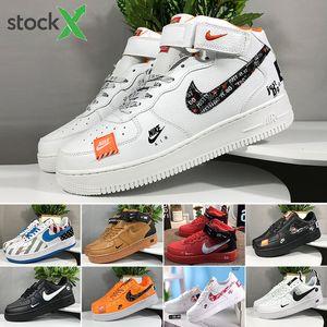 Nike air force 1 one 중립 높은 탑 같은 검은 색 고품질의 최신 남성 패션 저 위에 흰색 강제 신발 여자 하나 (1) 캐주얼 신발 T-R9F