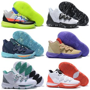 New New Arrival Mens Kyrie 5 Duke TV PE Kids Basketball Shoes For Cheap 20th Anniversary x 5s V Five Sneakers Size40-46