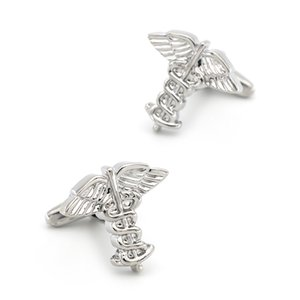 Vintage Design Angel Wing Cufflinks For Men Quality Copper Material Silver Color Cuff Links Wholesale&retail