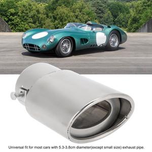 العادم السيارات العالمي الخمار تلميح جولة الفولاذ المقاوم للصدأ الأنابيب الكروم العادم الذيل الأنابيب الخمار تلميح الفضة