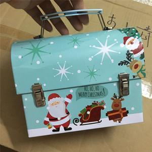 Chritmas Подарки Санта Клауса Piggy Bank House Design Ручка Candy Box Новый год Подарочная коробка для детей РОЖДЕСТВО партии Favor