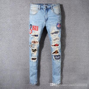 2020 Men S Designer Jeans luxury pants Fashion Designer Mens Shorts Jeans Slim Motorcycle purple brand jeans motorcycle men pants