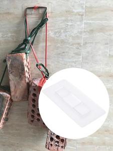 가정용 산업용 없음 펀칭에 대한 10PCS Traceless를 투명 접착 테이프 세척 설치 테이프 후크 최대