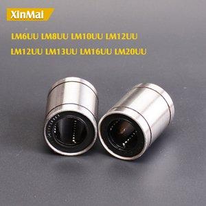 10 pz / lotto LM8UU LM10UU LM16UU LM6UU LM12UU LM20UU Boccole lineari 8mm Cuscinetti lineari CNC per aste Liner Rail Shaft parti