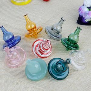 Ventas al por mayor de vidrio semitransparente UFO Carb Cap Cúpula de burbuja para cuarzo Banger Nails Glass Tubos de agua Dab Oil Rigs Glass Bong