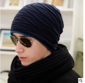 Malha Hat Gorros Chapéu CC Mulheres inverno quente estilo simples Chunky macia estiramento Homens malha Beanie Skully Chapéus