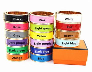 Großhandel mit Box 316 Titan Stahl 12mm Designer Armbandarmband für Männer und der Frauen Partei Paare Liebhaber Geschenk Luxuxschmucksachen