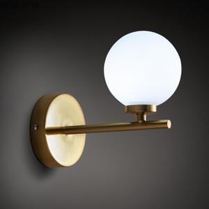 Iluminação de quarto de iluminação moderna iluminação de quarto luz de Cabeceira Luz de fundo sconces esféricas nórdicas Novidade Candeeiro de parede iluminação de vidro iluminação de corredor luzes de parede