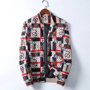2020 New Fashion Brand Jacket Men Winter Autumn Slim Fit Mens Designer Clothes Red Men Casual Jacket Slim Plus Size M-3XL