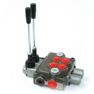 Hydraulisches 2-Spool-Mono-Block-Ventil 3000psi manuelles Richtungssteuerungsventil für Bohrmaschine Landwirtschaftsmaschine
