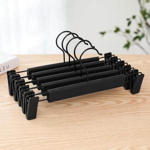 50pcs Plastic Black Hanger For Lingerie Underwear Anti-skidding Clothing Pants Skirt Clip Hangers Rack Supplies LX2317