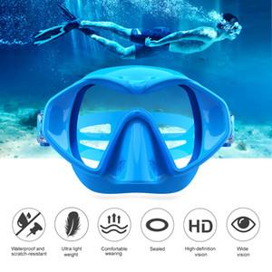-2020 al por mayor nueva máscara de buceo Gafas de buceo snorkel para adultos silicona Máscara flotante equipado con gafas de buceo por mayor