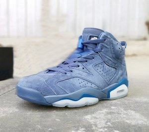 6 Jimmy Butler Mens Basketball Shoes 384664-400 High Quality 6S Diffused Blue Court Outdoor Designer casual Sneakers size 7~13 With Box