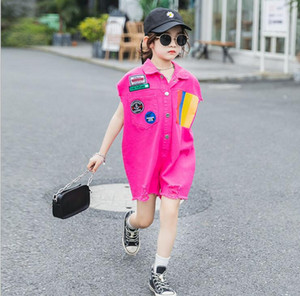 2020 new wholesale girls overalls summer fashion girls shorts 4-9t F233