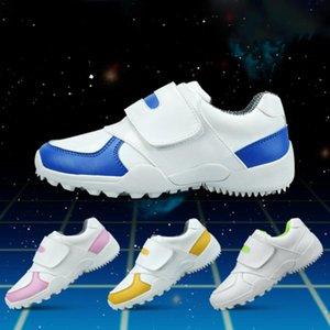 CRESTGOLF duráveis sapatos de golfe Crianças Sneakers respirável macio sapatos de golfe para crianças ao ar livre do esporte que funciona antiderrapante