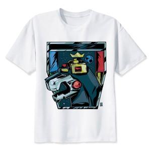 Voltron lettera stampata con palangari T-shirt manica 2018 magliette estate Streetwear Modale Mens brevi Casual Tee Tops Mr2568 Parallele