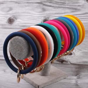 Die meistverkauften Silikon-Gelee-Schlüsselring-Armband-Armband bunter Silikon-Schlüsselanhänger-Armband Big O-Schlüsselring-Armband-Armband-Armbänder