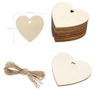 10pcs 80 milímetros de madeira Amor Slices Coração em branco Name Tags Madeira Etiquetas Art Craft Pieces para fazer projetos de casamento DIY Cartão