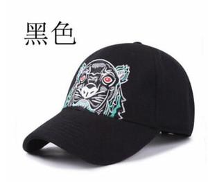 2019 Moda Tasarımcısı Erkek yün Beyzbol Kapaklar Marka Kaplan Kafası şapka Işlemeli Erkek Kadın Şapka Kadın Rahat Şapka Güneş Şapka Spor KZ Caps