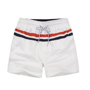 Junta de rayas para hombre Casual shorts de playa pequeño caballo Impreso Deportes traje de baño de los cortocircuitos cortocircuitos frescos del verano masculino