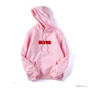 Fashion brand New Color box logo hoodie Hip Hop Streetwear Classic embroidery letter marka Fleece Hoodie Autumn Winter Coat