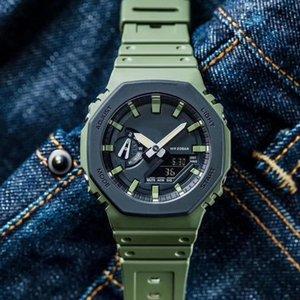 Sport Herrenuhr Neue G-Art-Armbanduhr für Mann Male wasserdichten Outdoor-Sport Shock Uhren LED-Digital-Quarz-Taktgeber 2100 Royal Oak