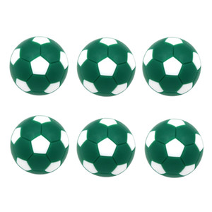6 Pack Sports Foosball Table Soccer Replacement Balls - Mini Soccer Balls Table Football Balls 32mm - Multiple Colors