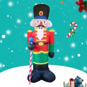 LED와 크리스마스 LED 진저 맨 쿠키 실내 야외 마당 Airblown 장식 재미있는 크리스마스 파티 디스플레이 크리스마스 풍선을 점등