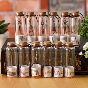 خلاقة ورائعة خمر متمنيا زجاجة مشهد العالم محظوظا زجاجة الفلين زجاجة عائمة هدية عيد ميلاد الديكور T3I5656