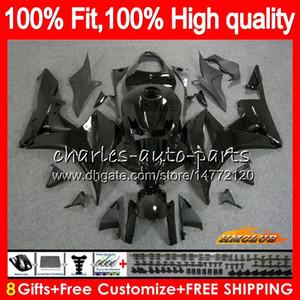 Injeção corpo lustroso preto novo para Honda CBR600RR CBR600F5 CBR 600F5 67HC.3 CBR600 CBR 600 RR CC 600RR 600cc F5 2007 2008 07 08 OEM Fairing