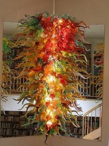 100% Main Sale Dale Chihuly Chandelier de Murano Grand Borosilicate Glass Art Dôme Luge de plafond léger