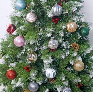 6color Weihnachtskugel Weihnachtsbaum Bunte Dekorationen Ornament Anhänger Galvanik Kugel-Geschenk für Home Partydekoration neue GGA2853